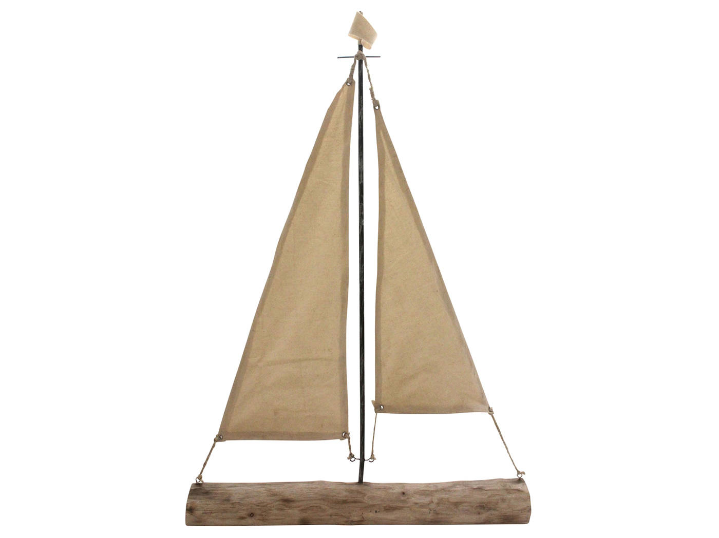 "Mango Wood Sailboat Decor 22""W x 32""H"