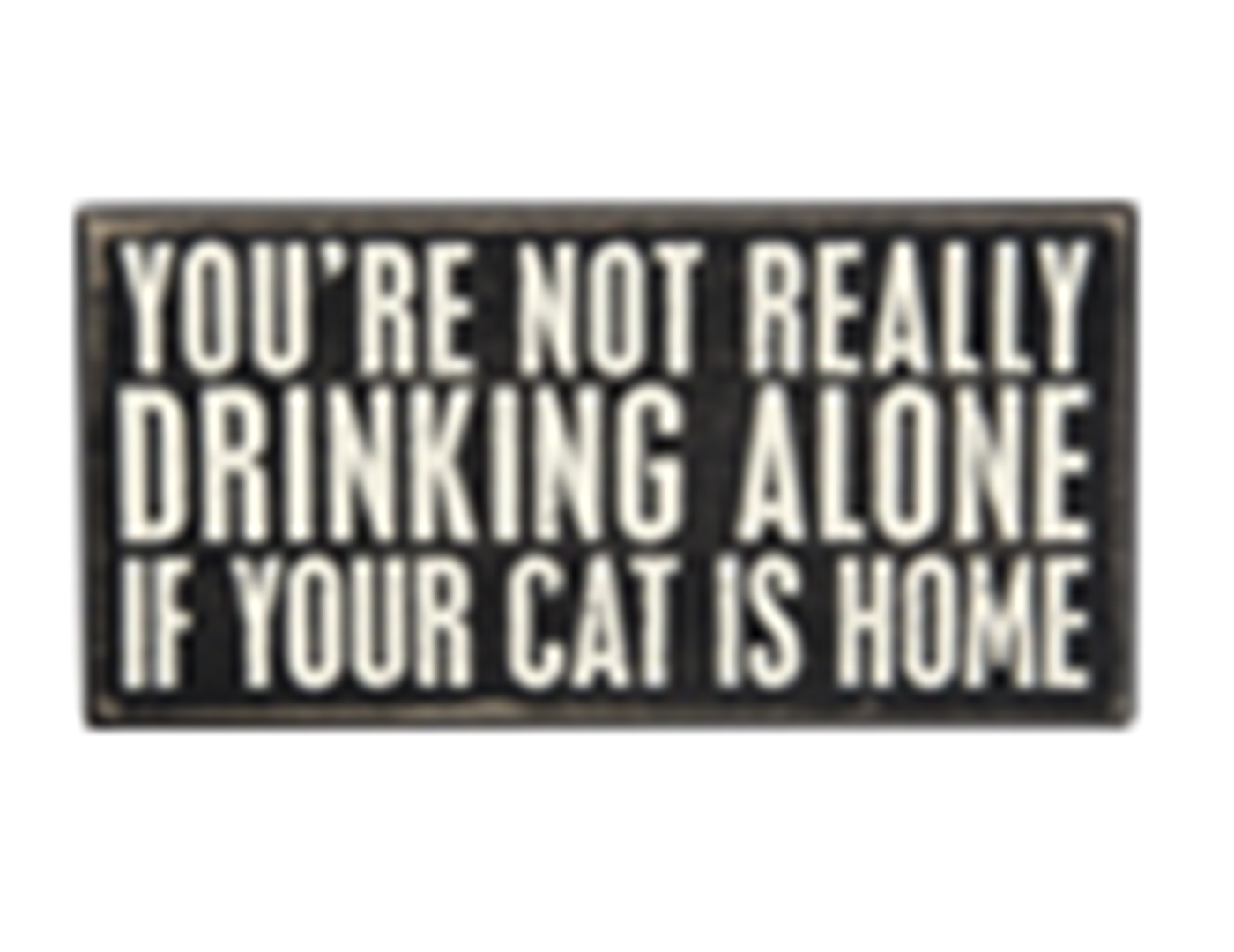 You're Not Really Drinking Alone Sign 8X4""