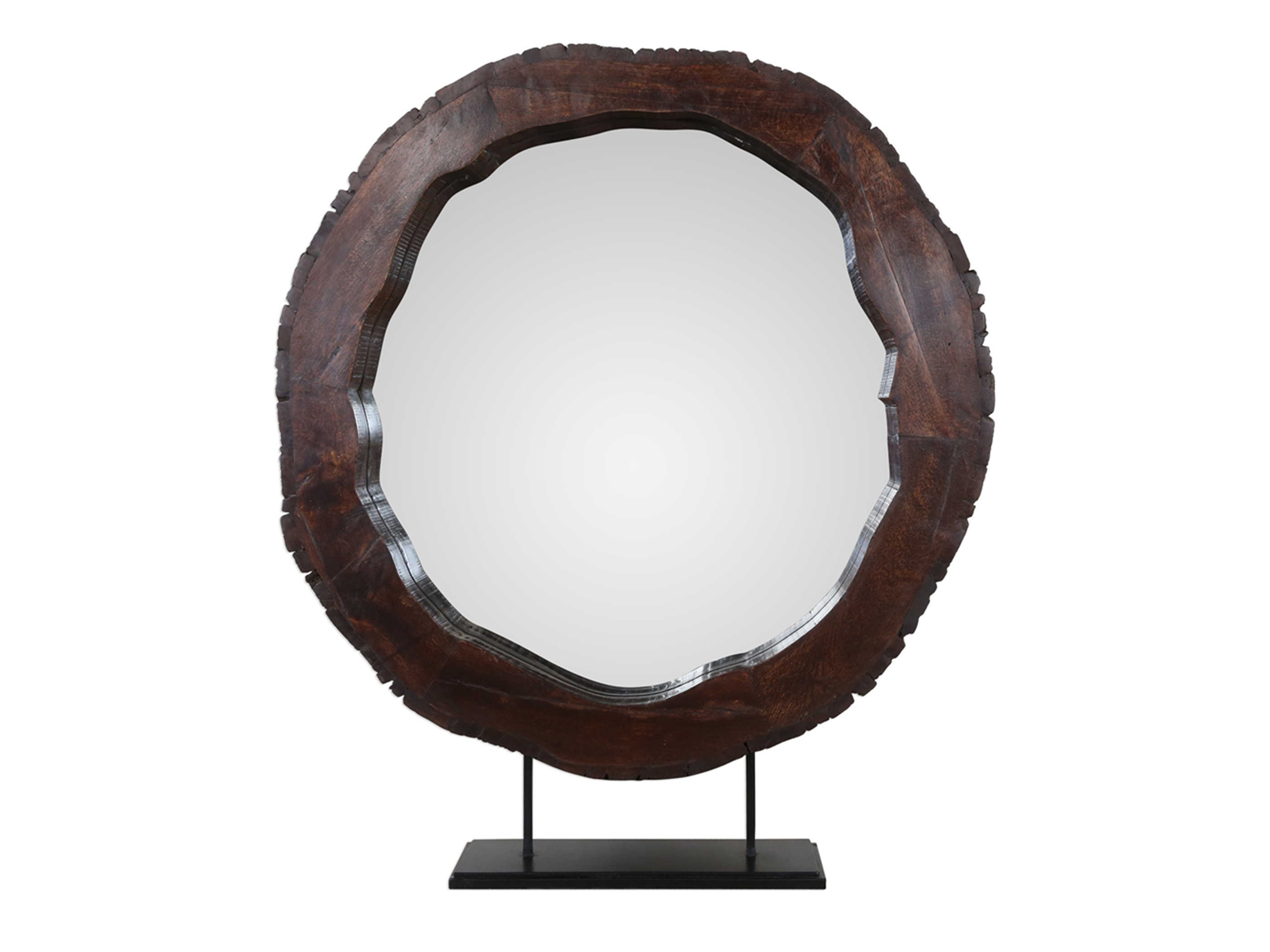 "Reclaimed Wood Tabletop Mirror 36""W x 41""H"