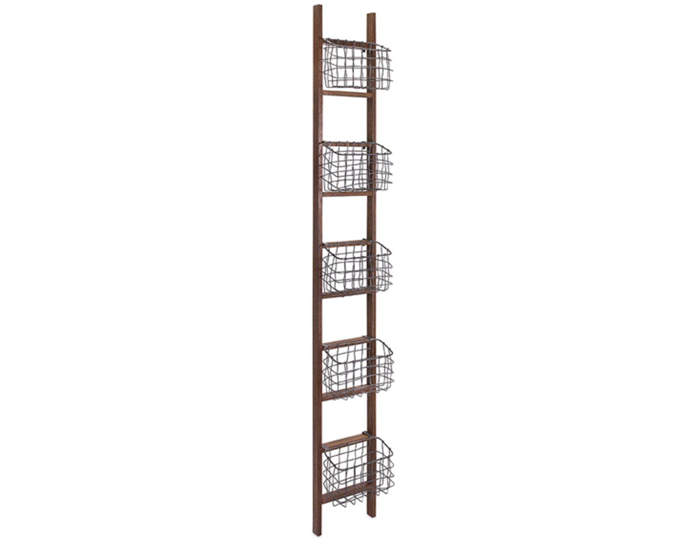 Ladder Basket Display Shelf