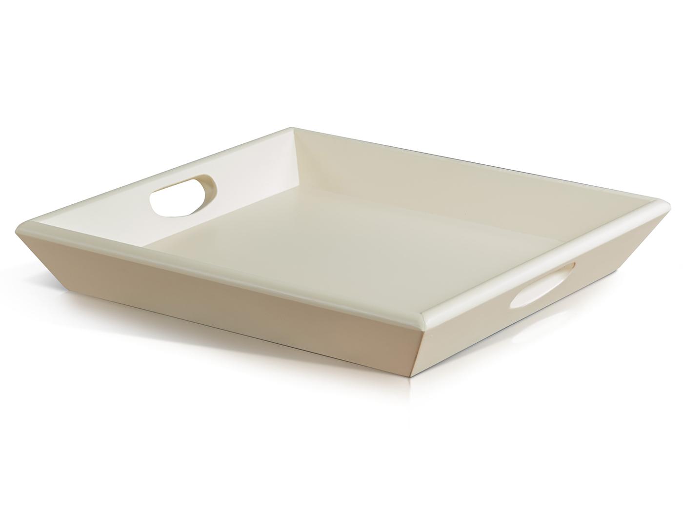 Swell Cream Wood Ottoman Tray 18X18 Steinhafels Inzonedesignstudio Interior Chair Design Inzonedesignstudiocom