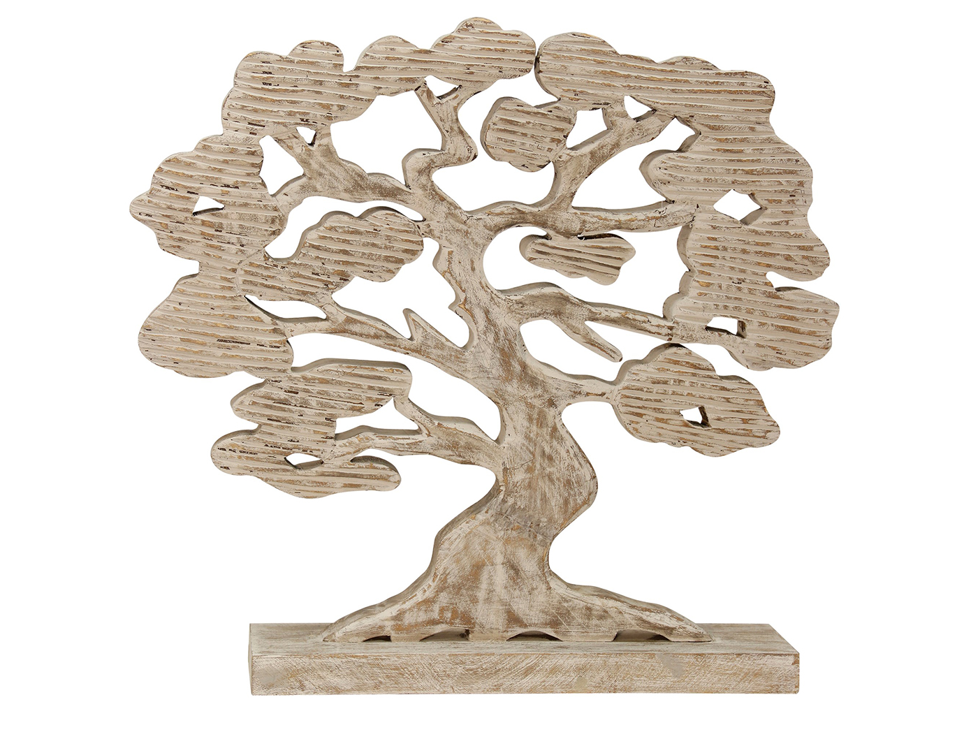 "Wood Carved Tree 16""W x 22""H"