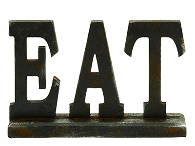 EAT Sign 12X8""