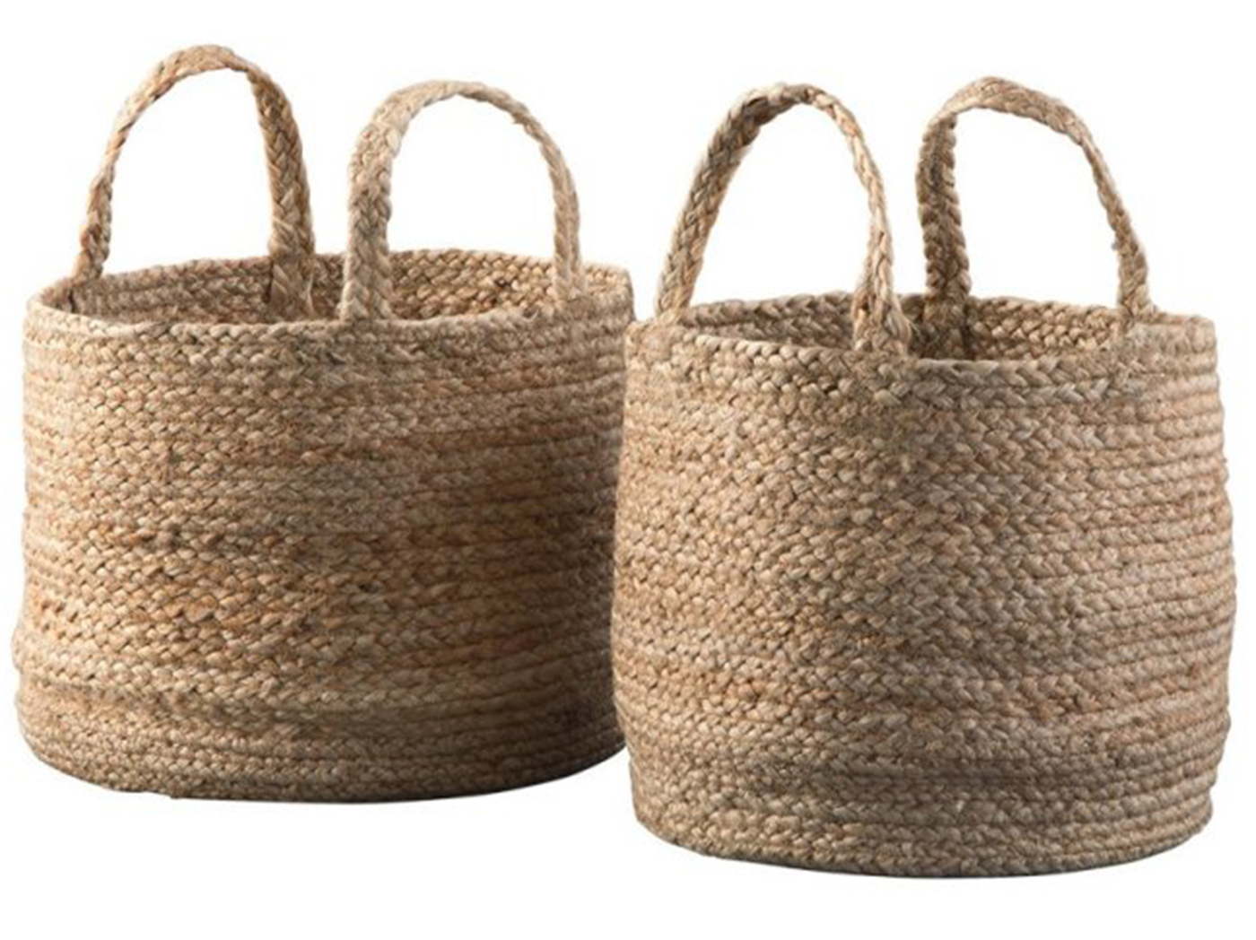 "Set of 2 Jute Bastets 12-14""W x 10-11""H"