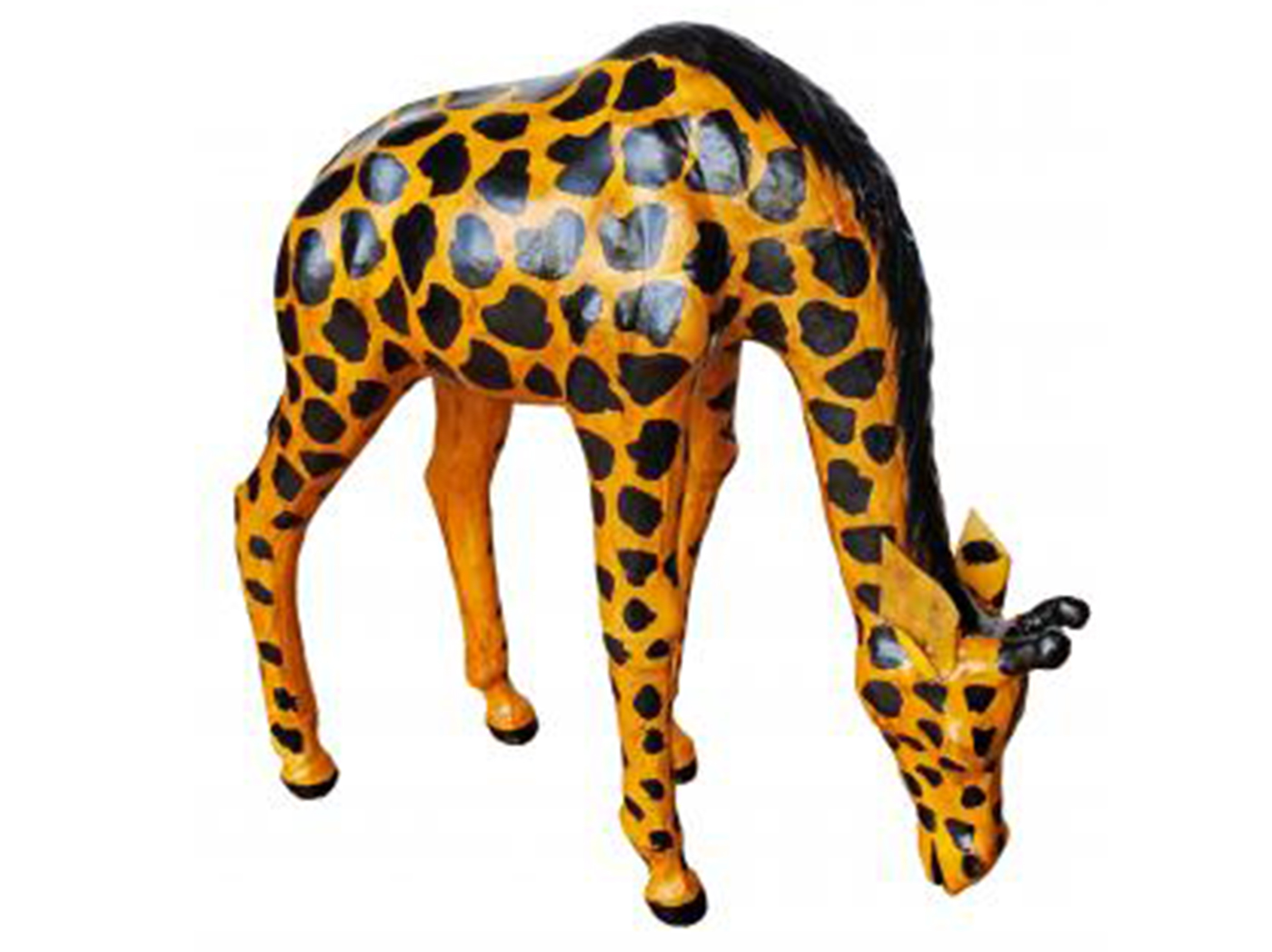 Leather Giraffe Drinking 12""