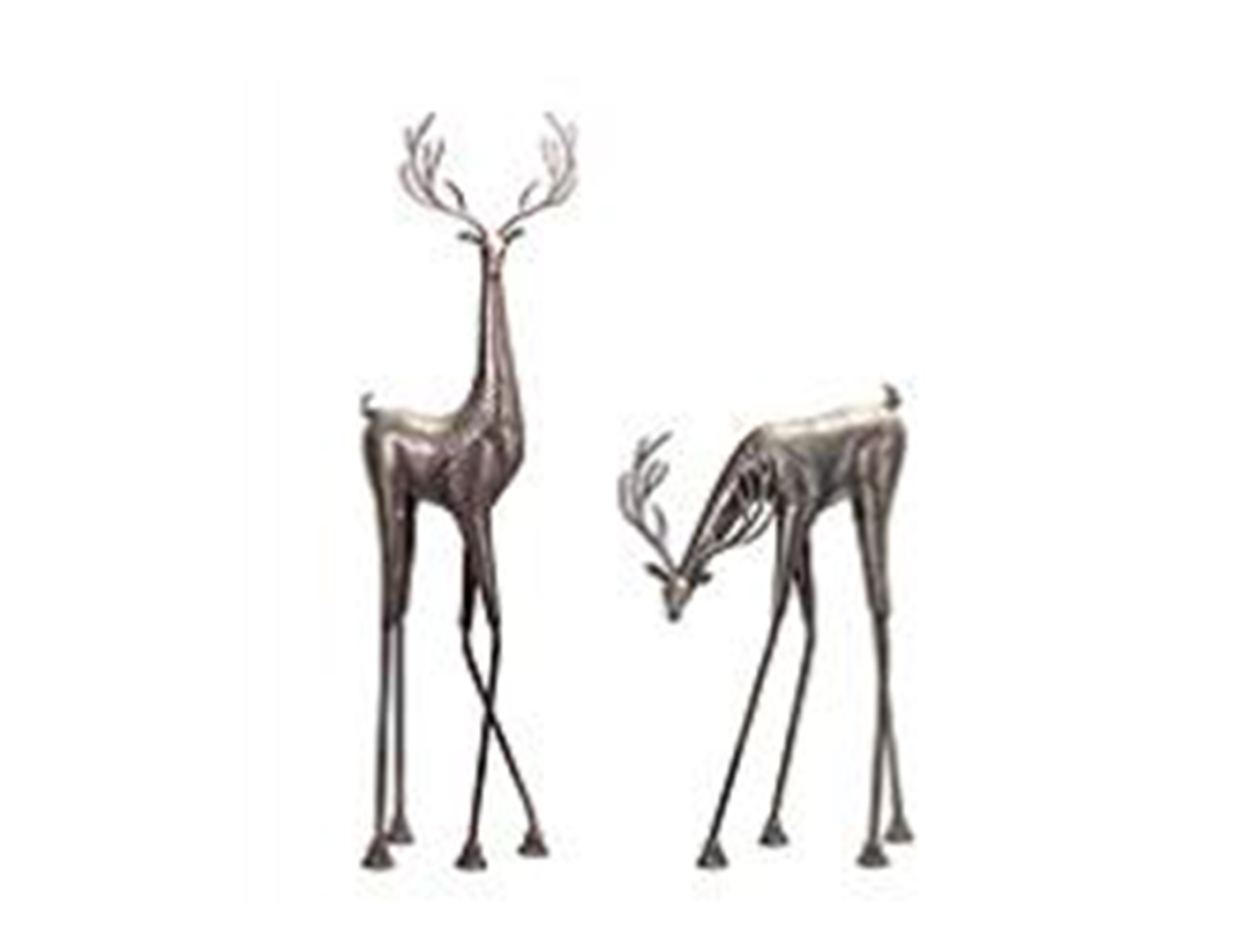 "Assorted Metallic Reindeer 28.5""/45""H"