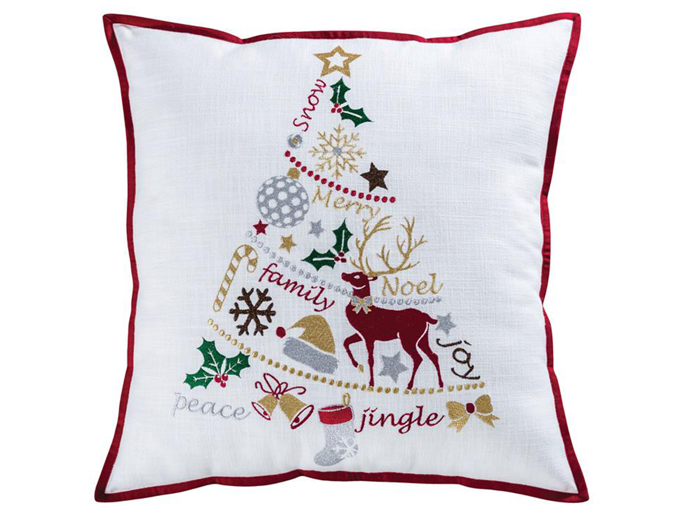 Holiday Tree Down Pillow 20""