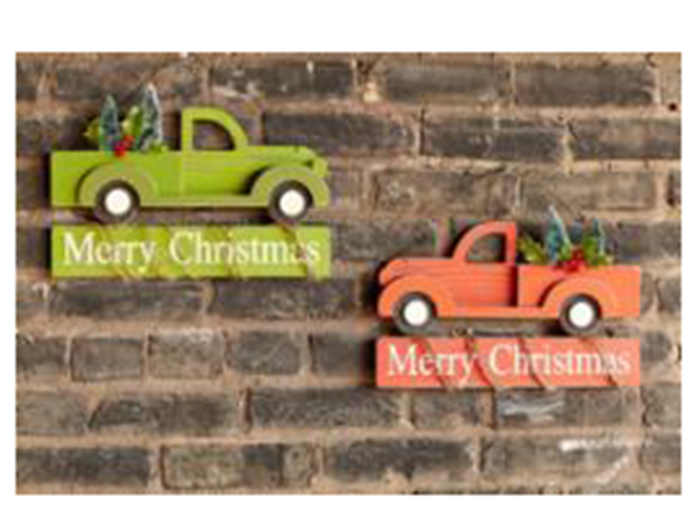 Assorted Christmas Truck Wall Decor