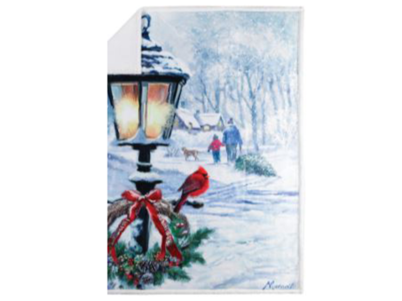 "Christmas Lantern Throw Blanket 48""W x 60""L"