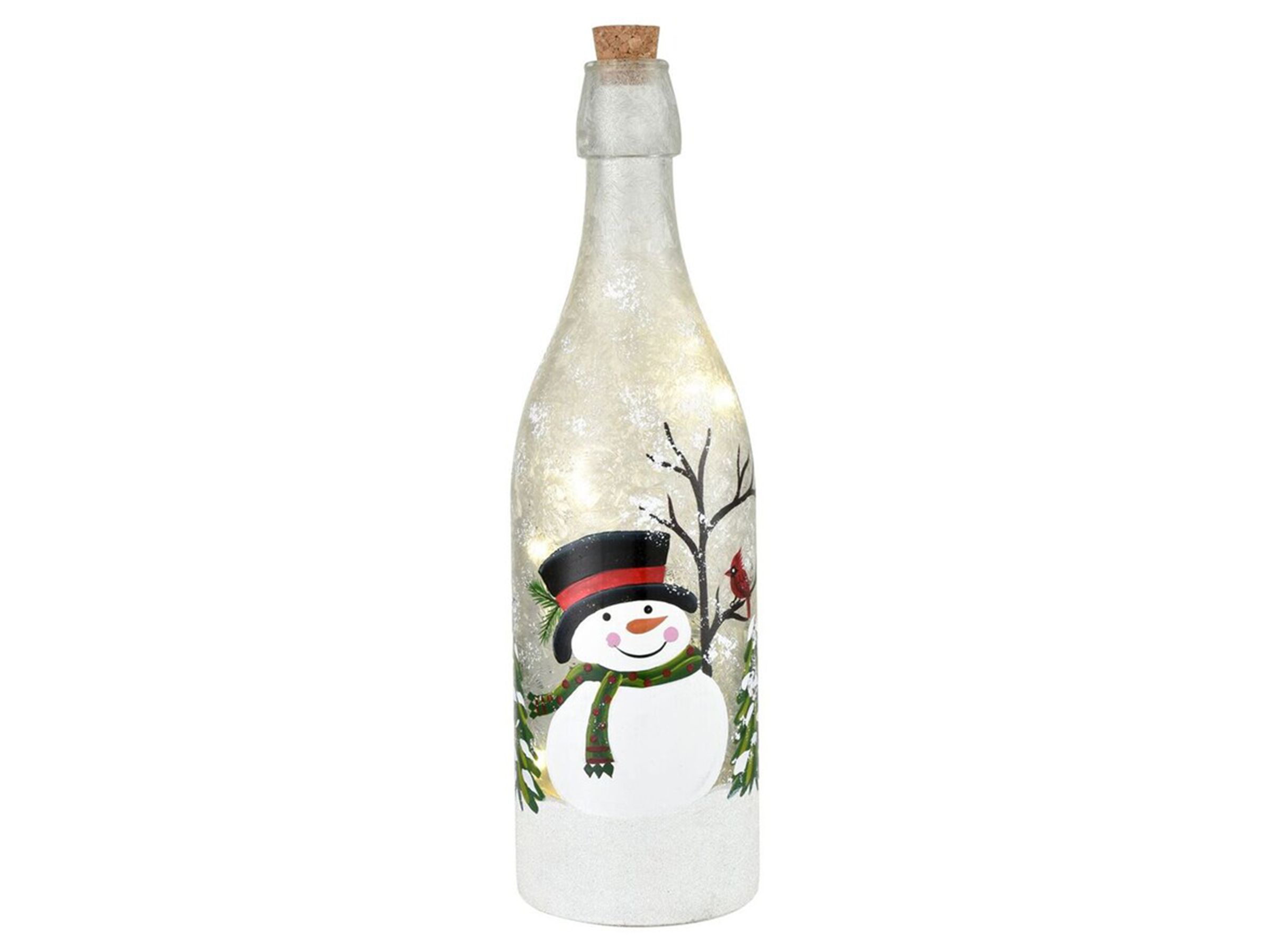 "Snowman LED Light-Up Bottle 3.25""W x 11.75""H"