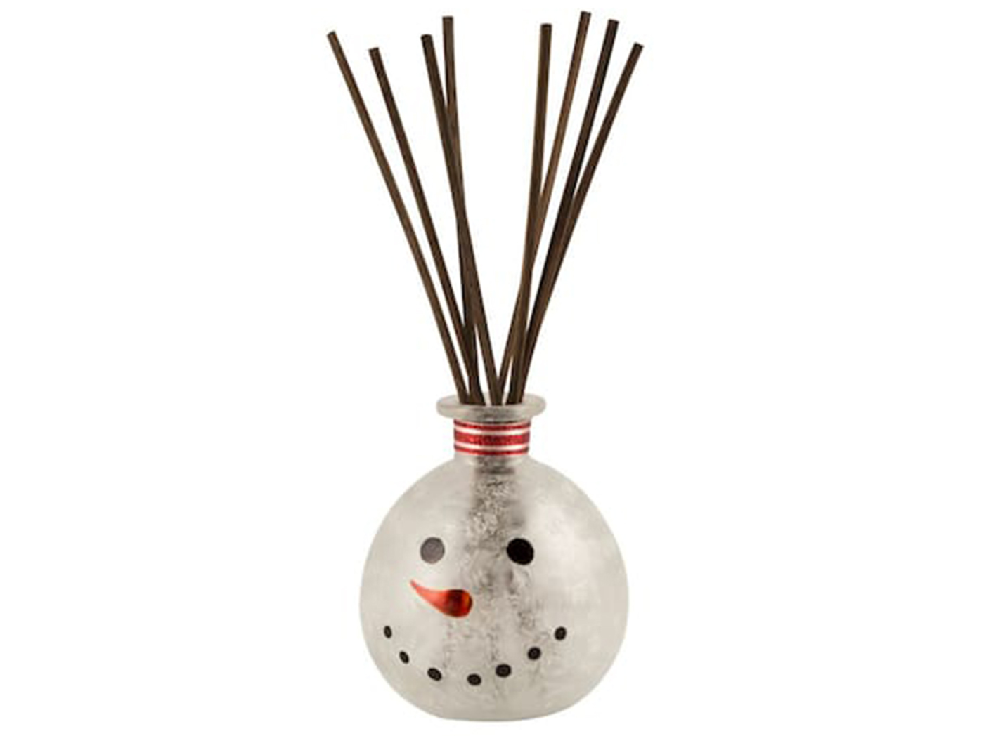 "Frosted Snowman Reed Diffuser 3""W x 4""H"