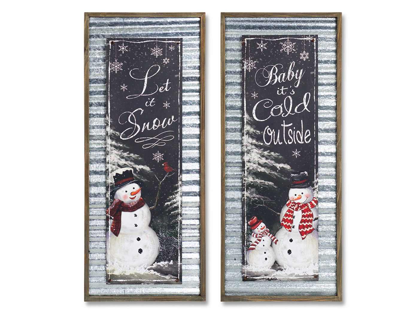 "Assorted Snowman Wall Decor 13""W x 31.5""H"