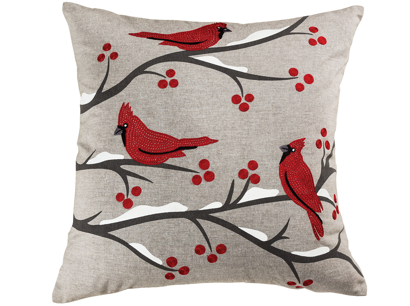 "Cardinal Down Pillow 24""W x 24""H"