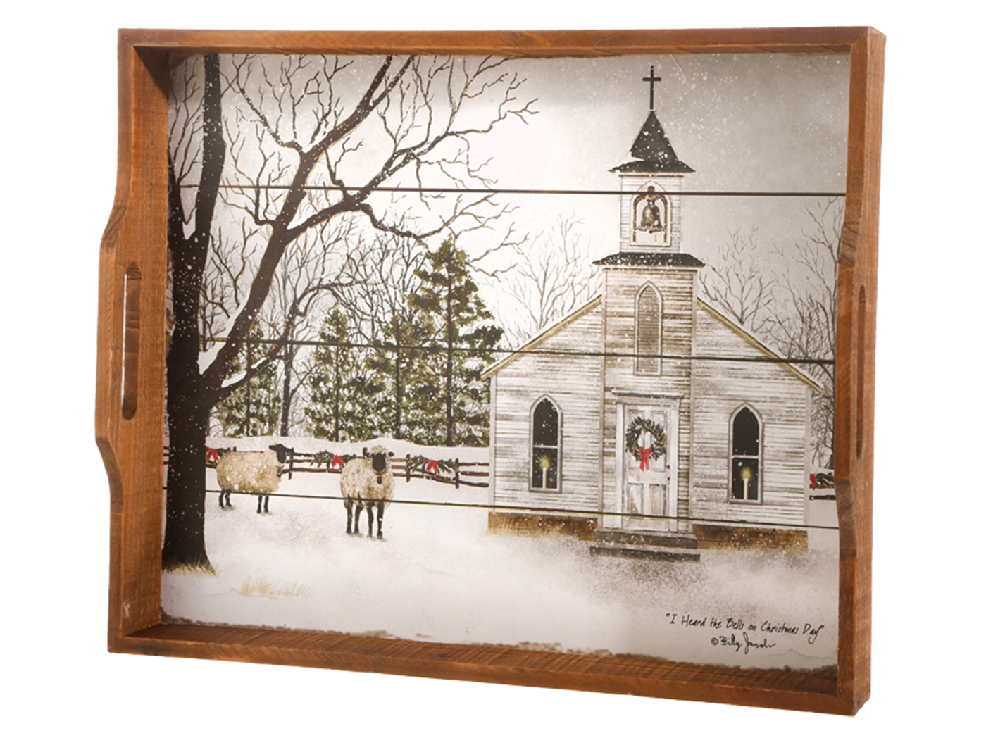 Winter Church Tray
