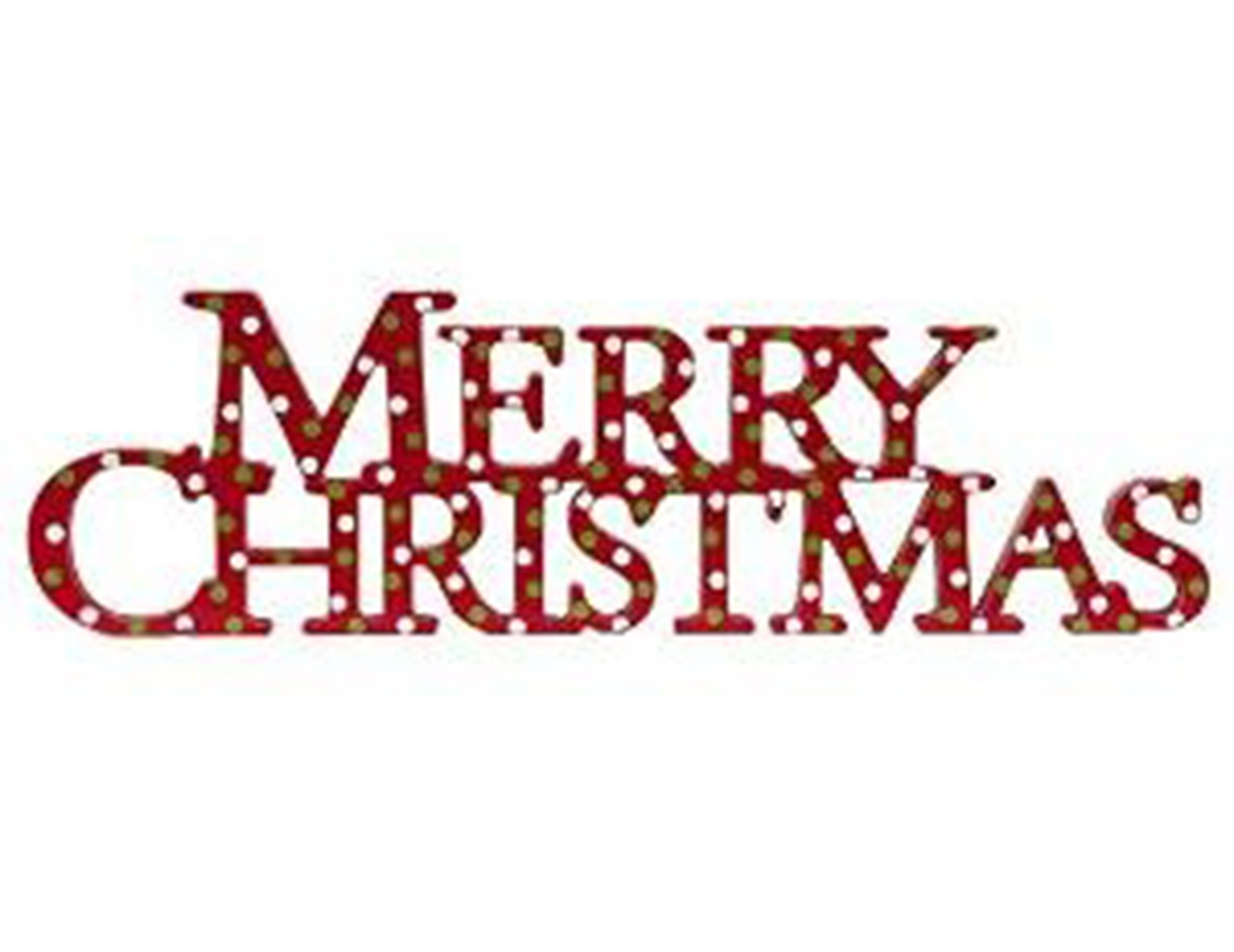 Merry Christmas Cutout Sign
