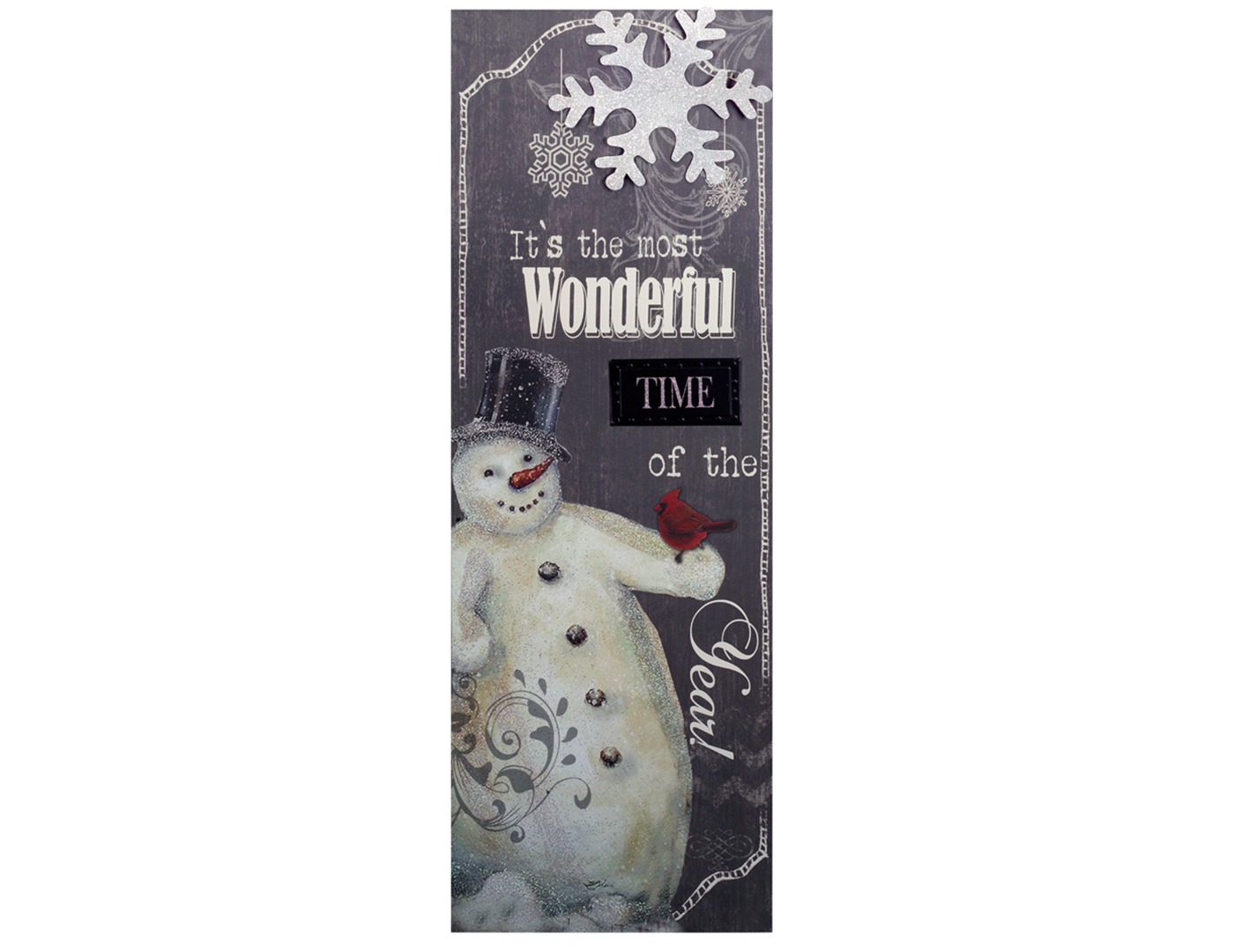 Wonderful Snowman Canvas Art