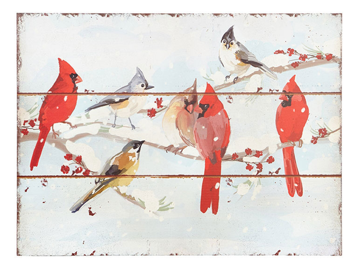 "Cardinals on Branches Wall Art 24""W x 18""H"