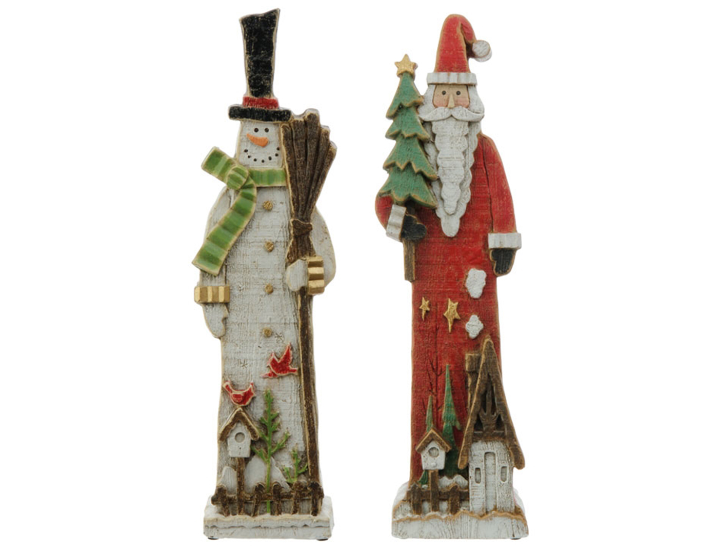 Santa or Snowman Assorted Figures