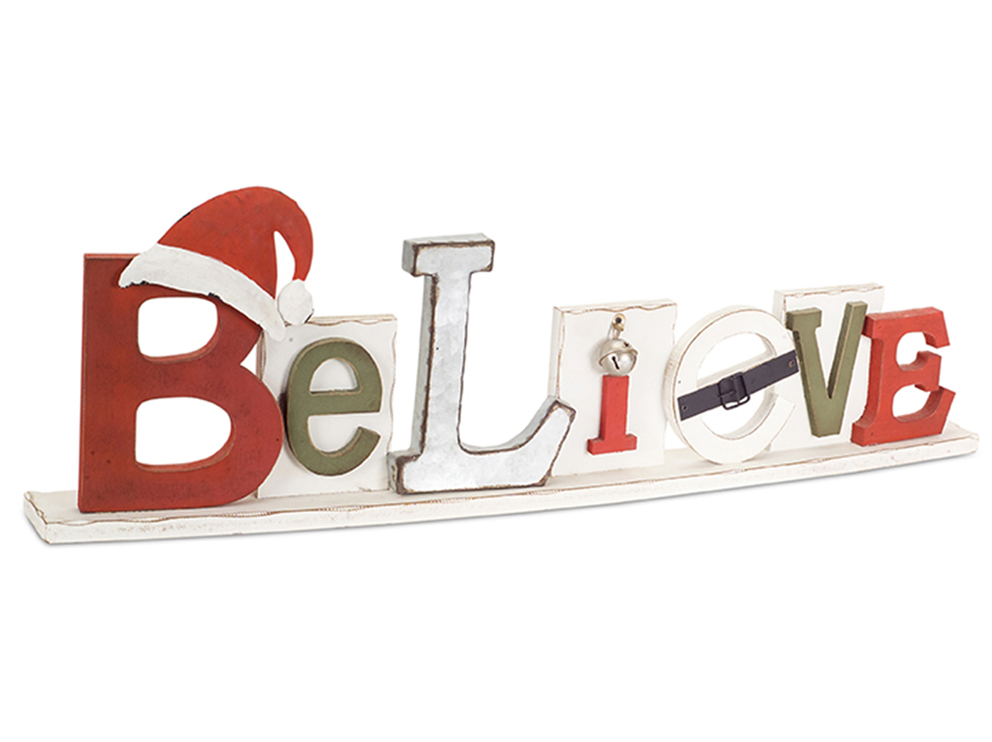 "Believe Wood Sign 30.5""W x 10""H"