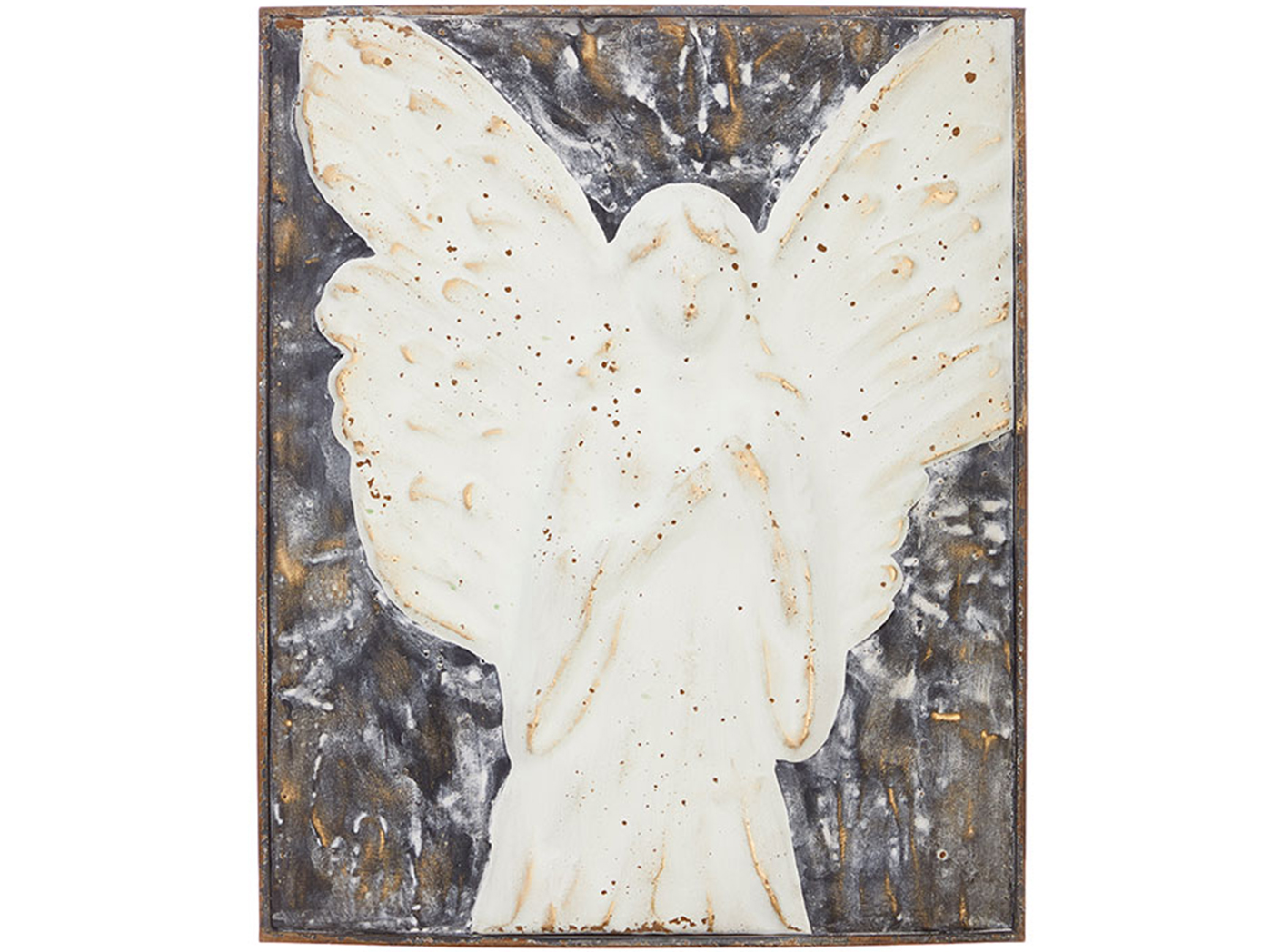 "Metal Angel Wall Decor 17.5""H"