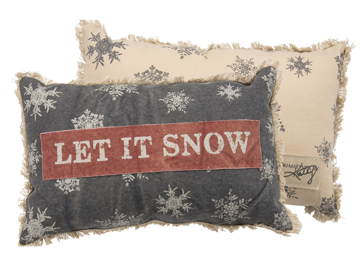 "Let It Snow Pillow 19""W X 12""H"
