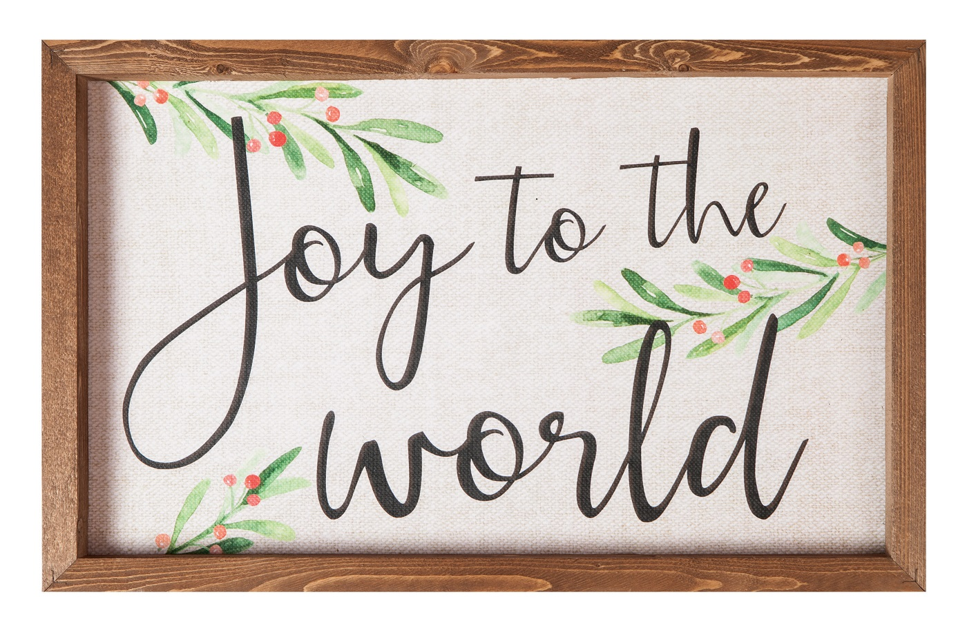 "Joy To The World 18""X11.5""H Framed Art"