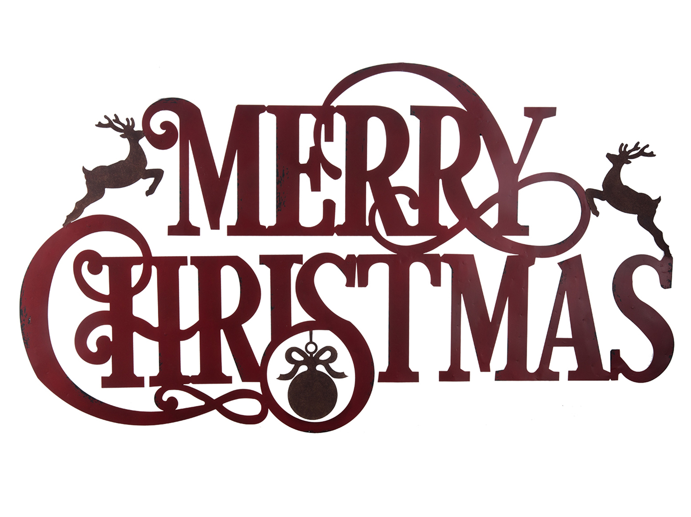 "Merry Christmas Sign 47"" X 46.25""H"