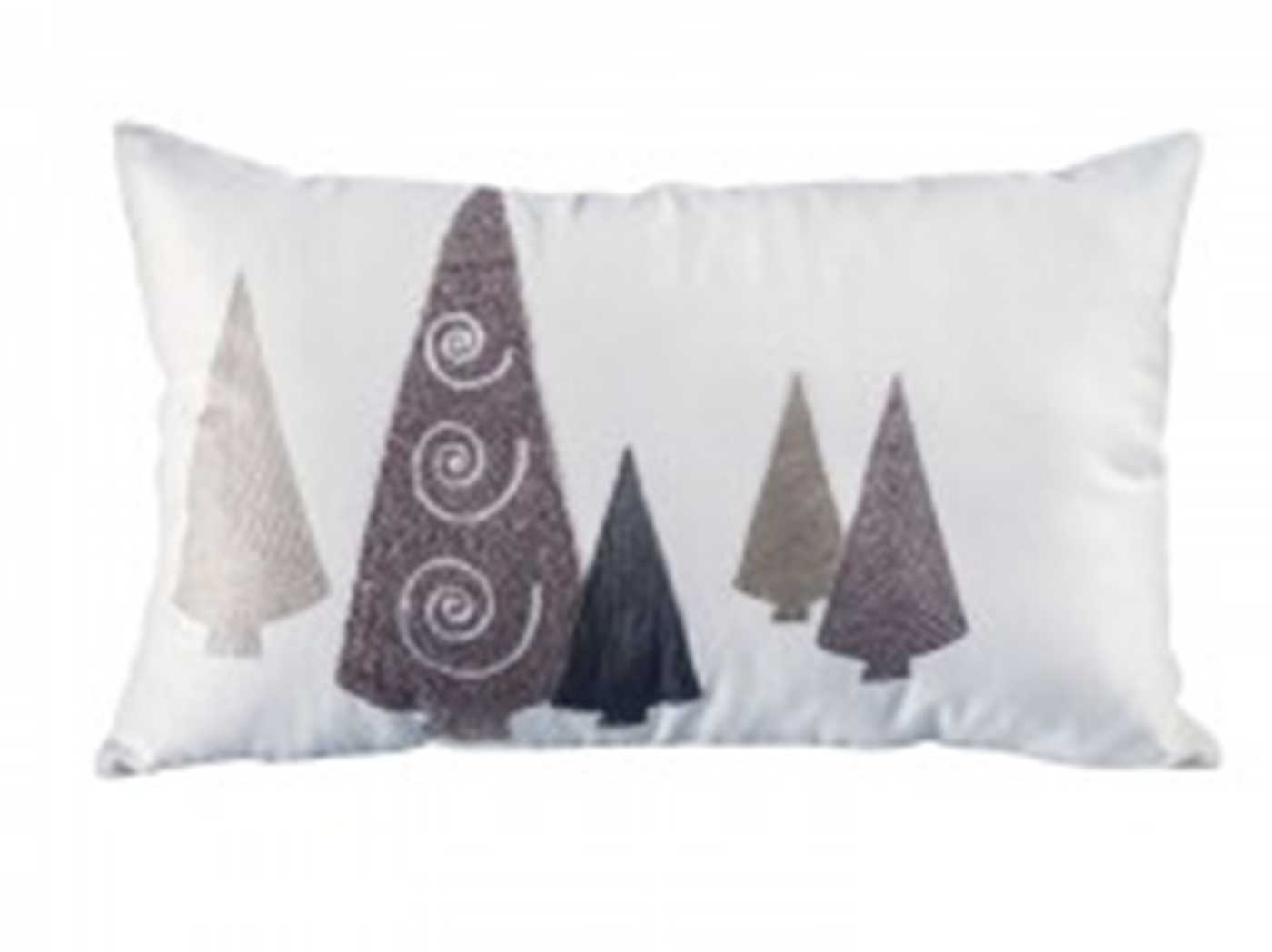 "White and Grey Trees Down Pillow 26""W X 16""H"