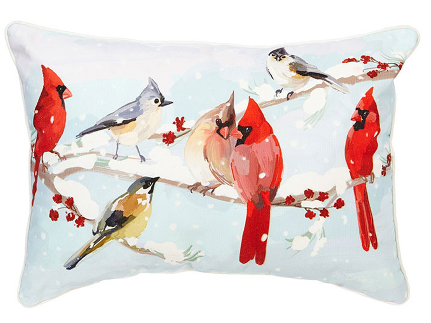 Cardinals on Branches Pillow 19.5""