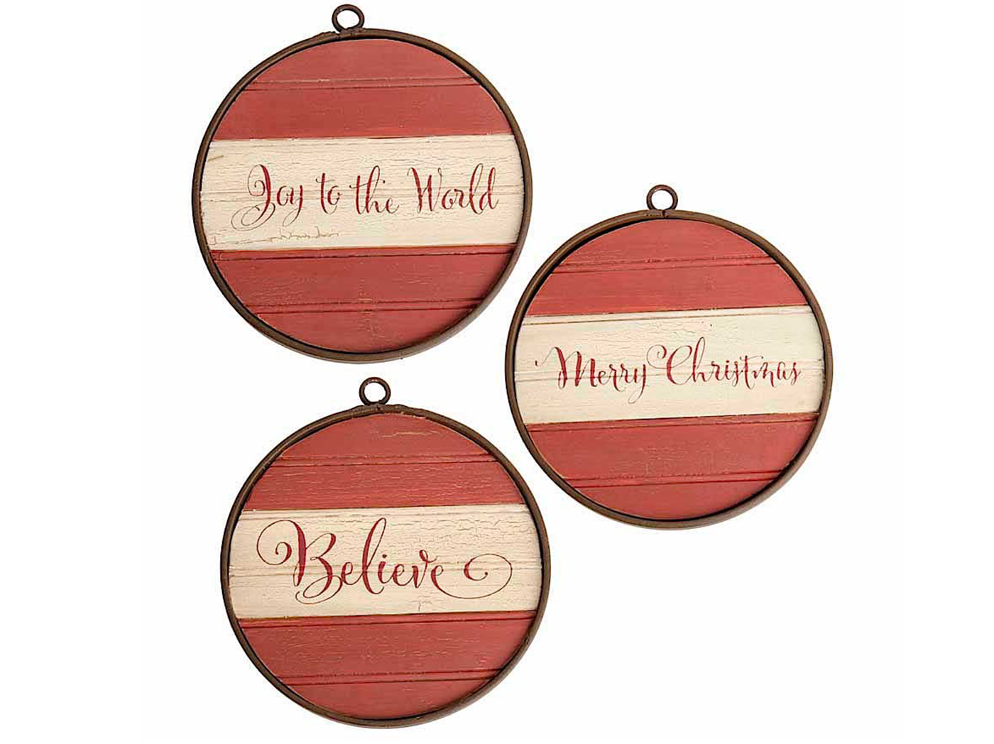 "Wooden Holiday Ornaments 10""W X 10.5""H"