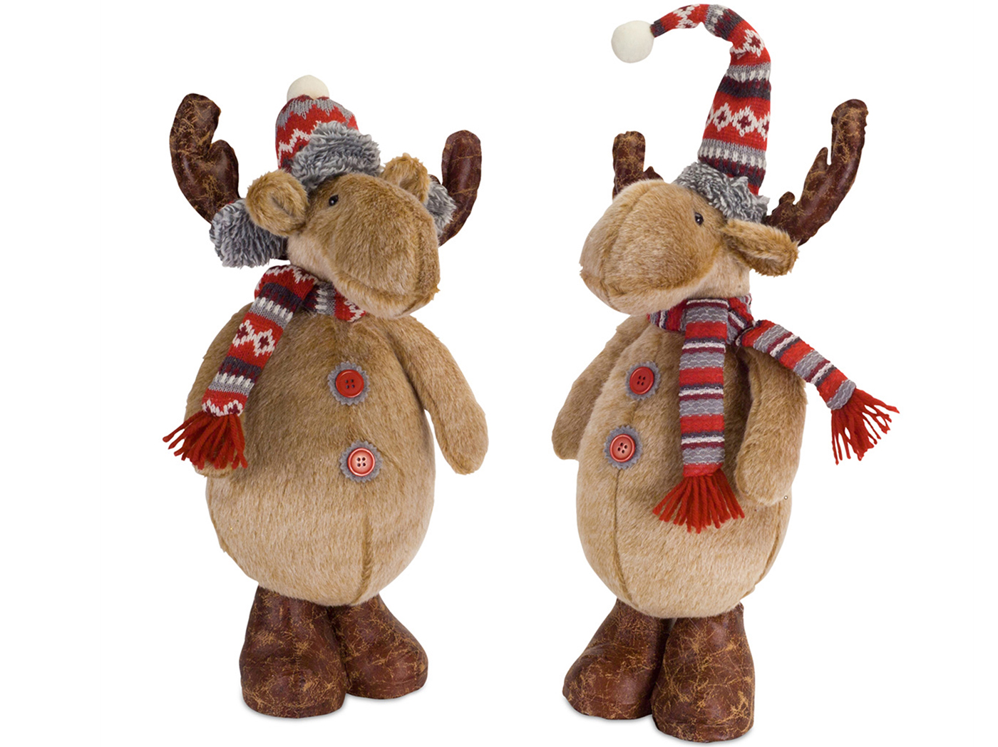 "Assorted Reindeer with Hat 16.5/18""H"