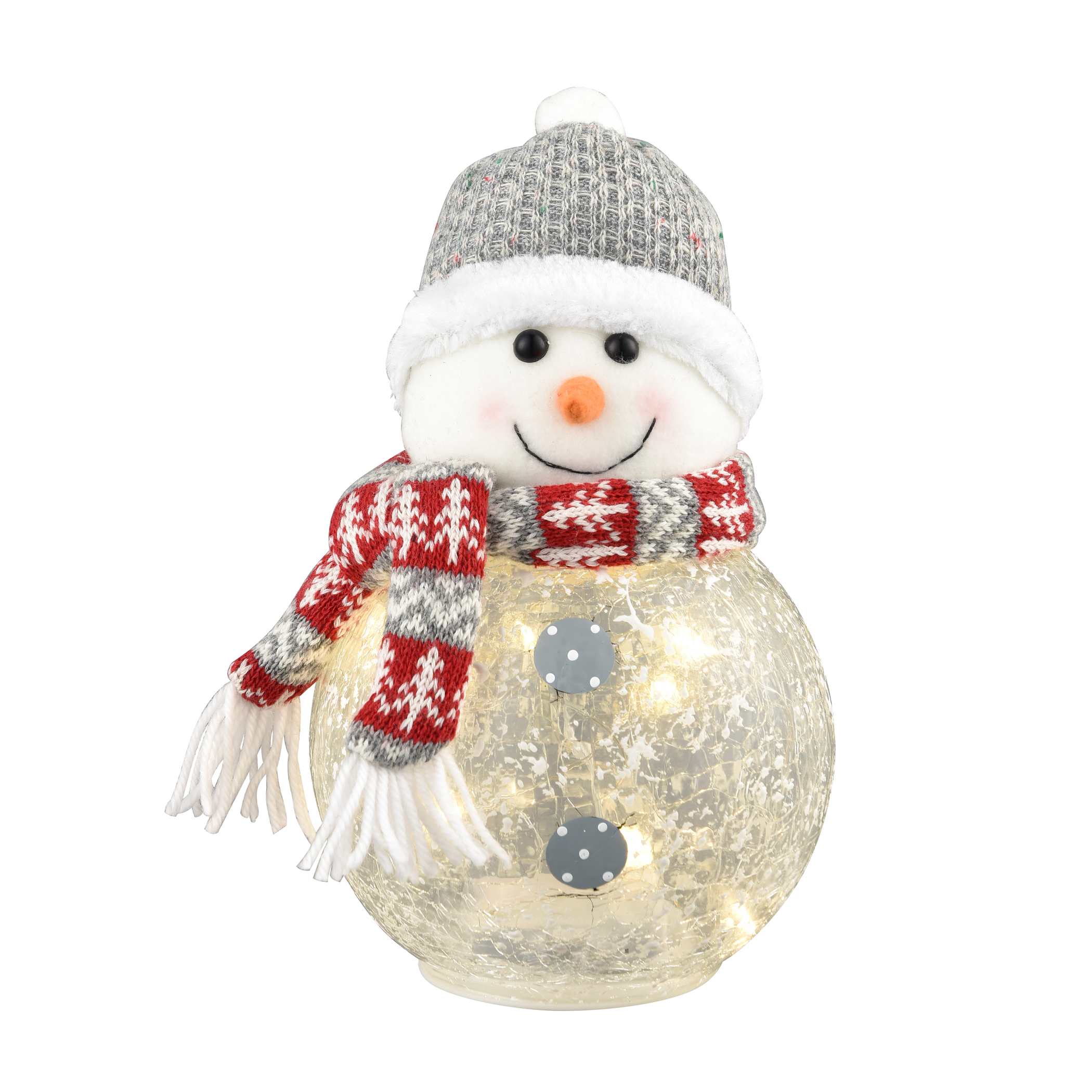 "Chilly Snowman Light 6""W x 6""D x 9.5""H"