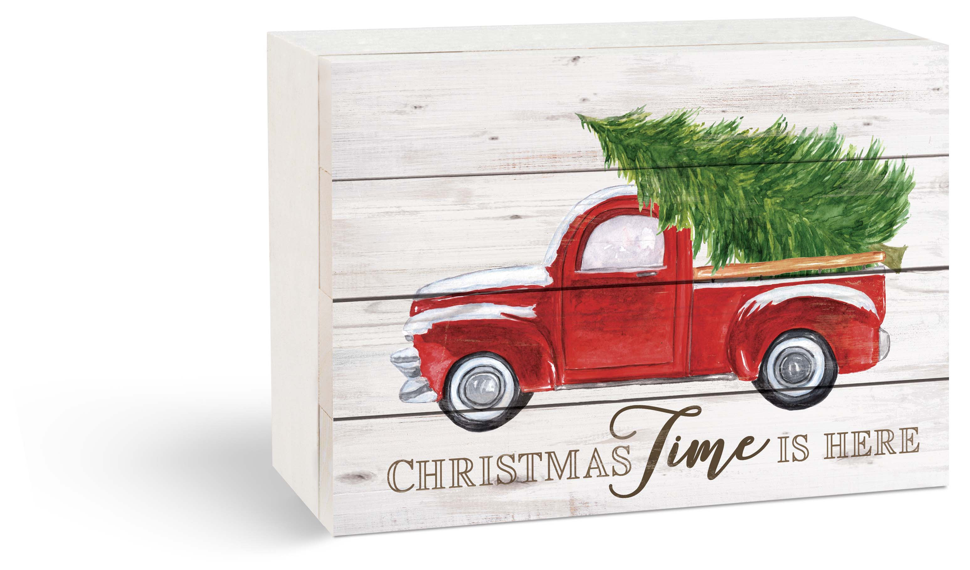 "Red Truck Box Sign 8""X6""H"