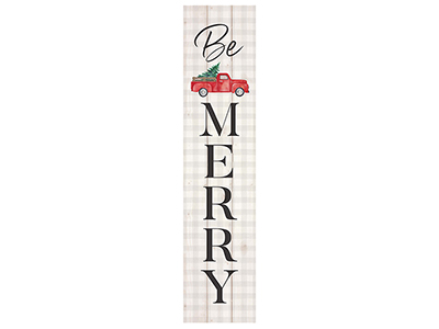 "Be Merry 10.5""X47""H Pallet Art"