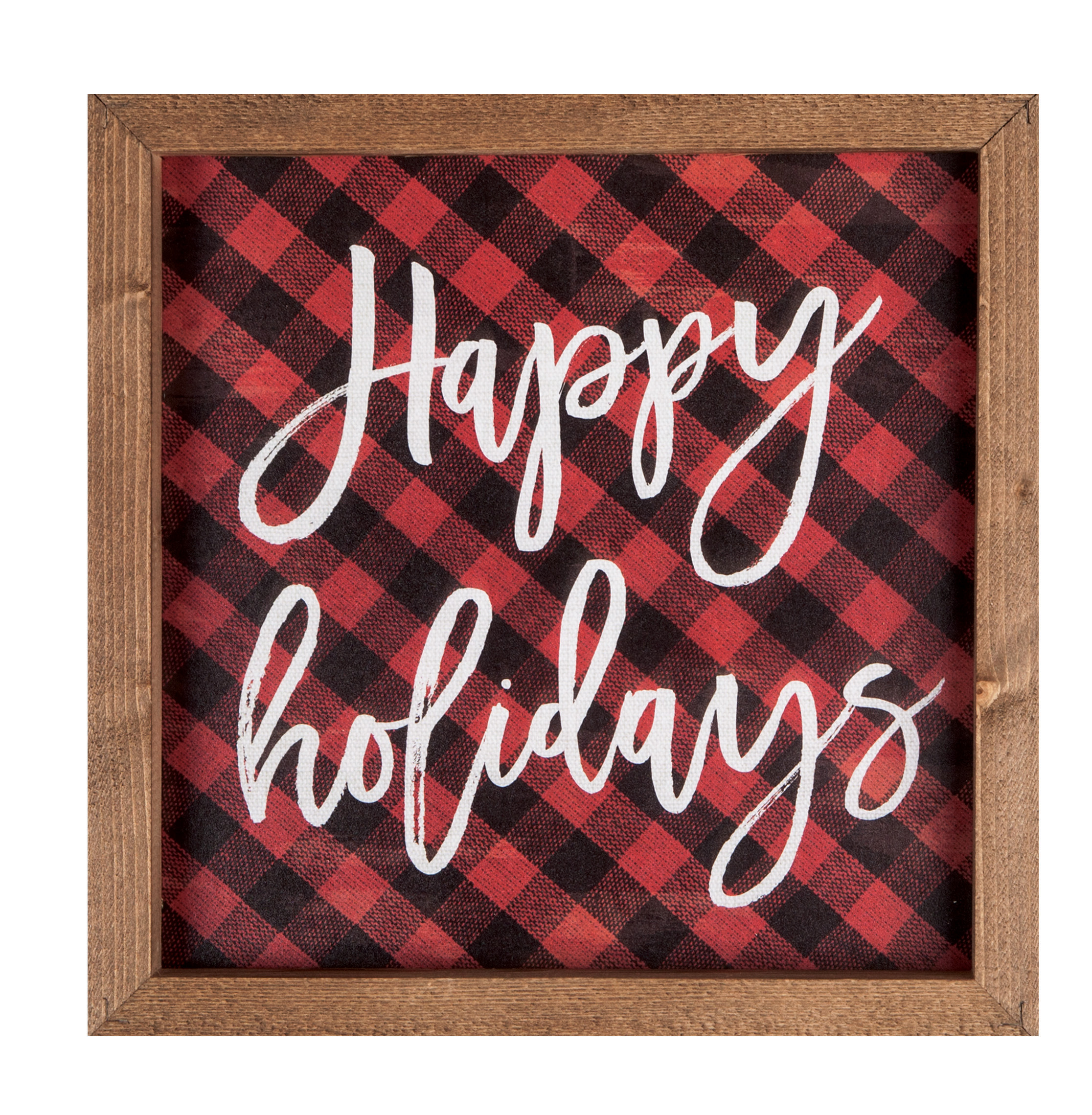 "Happy Holidays 10.75""X10.75""H Framed Art"