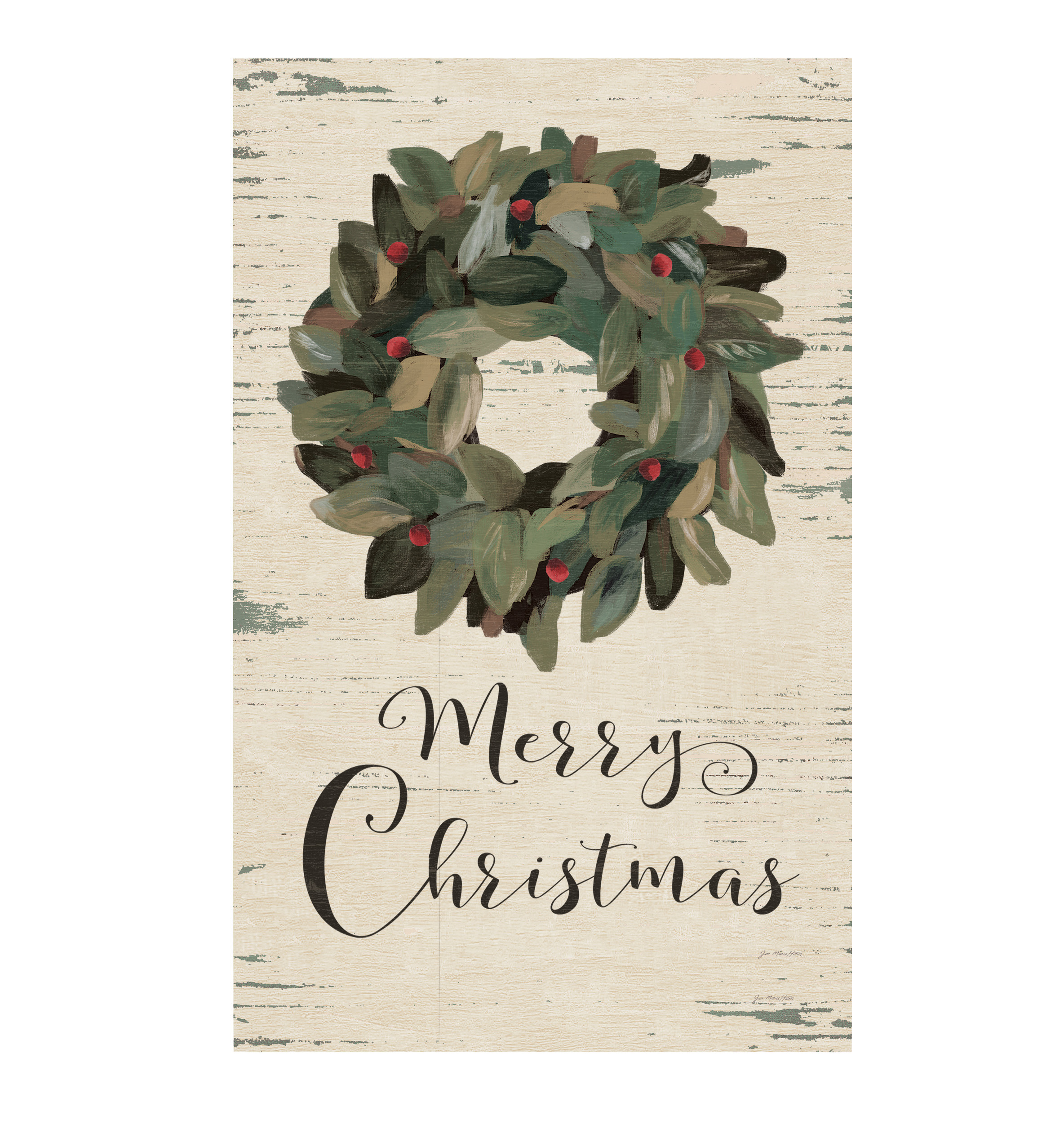 "Merry Wreath 10.5""X17""H Wall Art"
