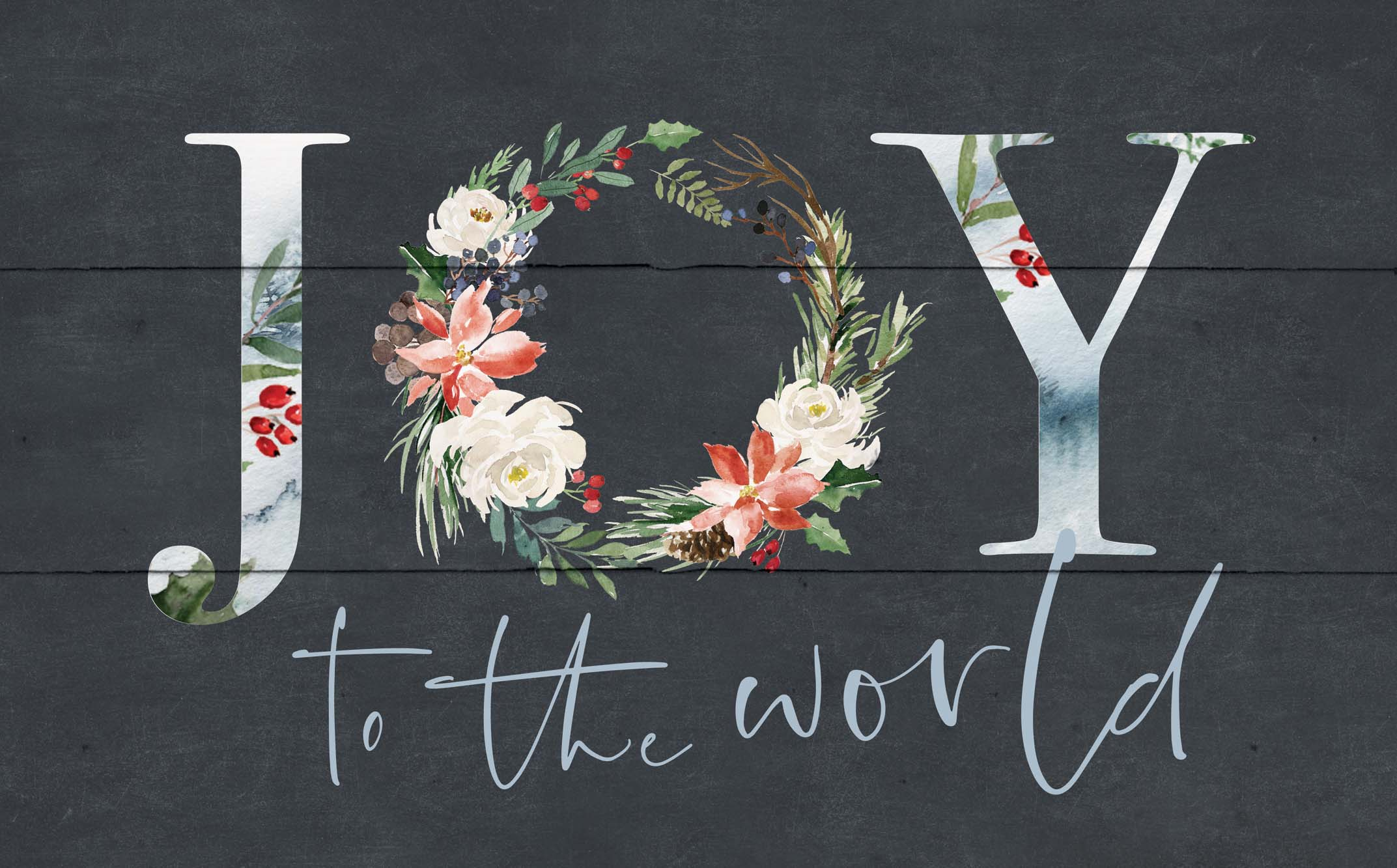 "Joy To The World 17""X10.5""H Wall Art"