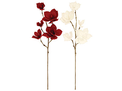 "Assorted Red/White Flower 34""H"