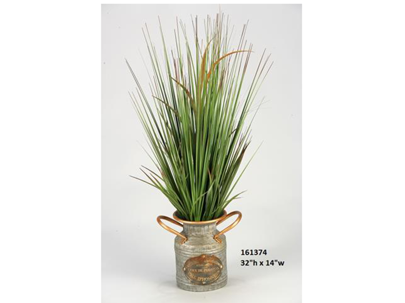 "Onion Grass in Ceramic Planter 14""W x 32""H"