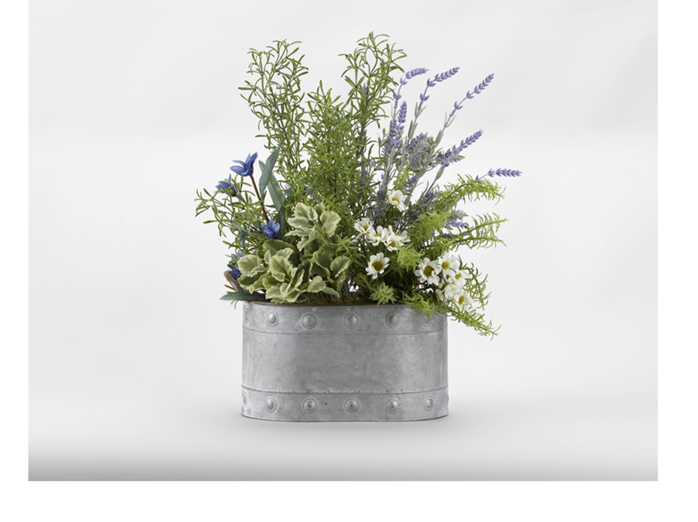 "Lavender Oval Metal Planter 20""W x 22""H"