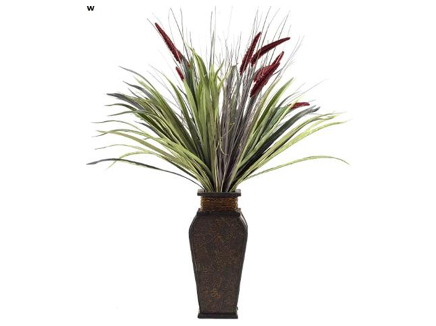 "Tall Onion Plant in Square Planter 34""W x 38""H"
