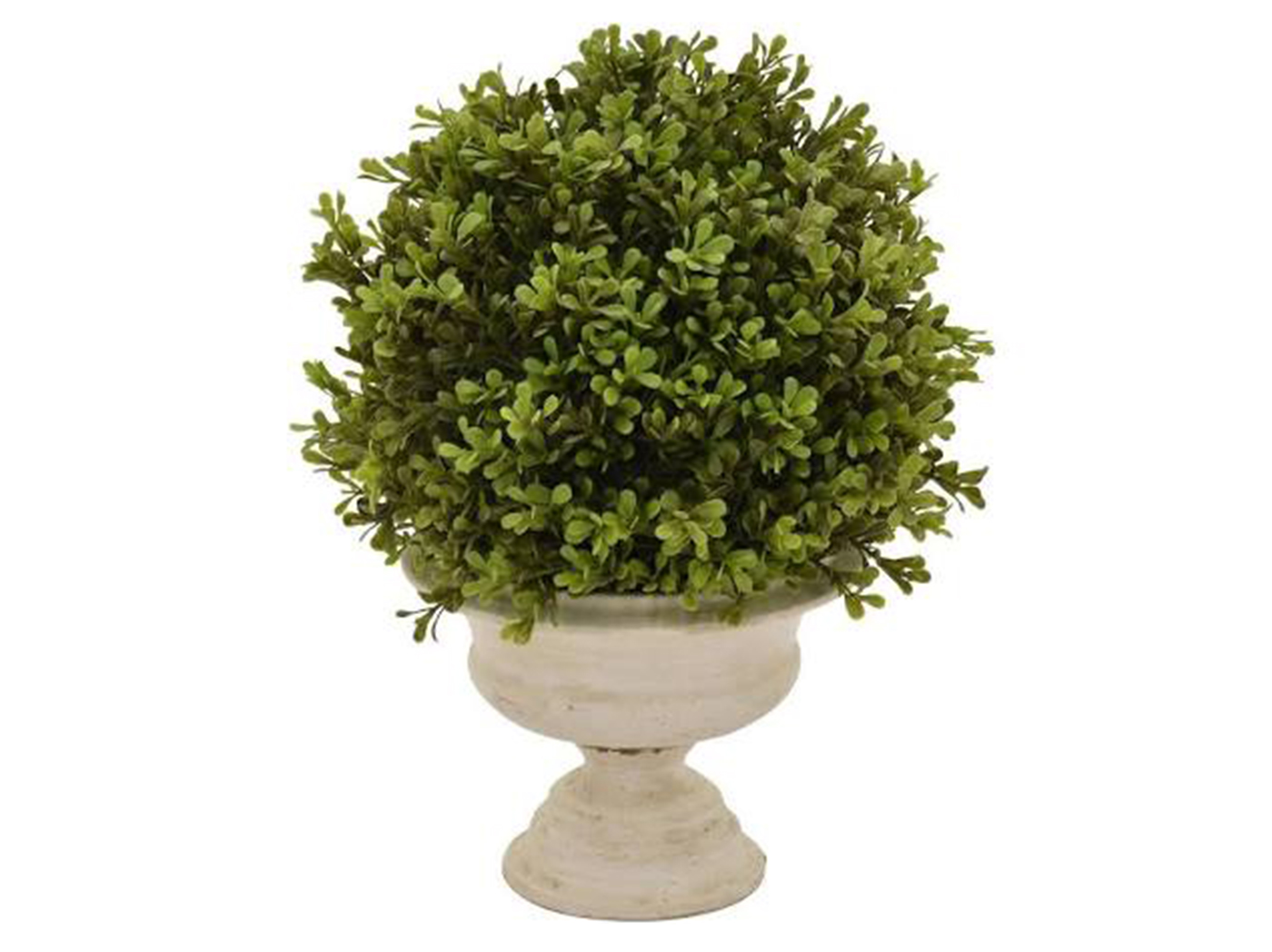 "Faux Topiary in Pot 12""W x 15""H"