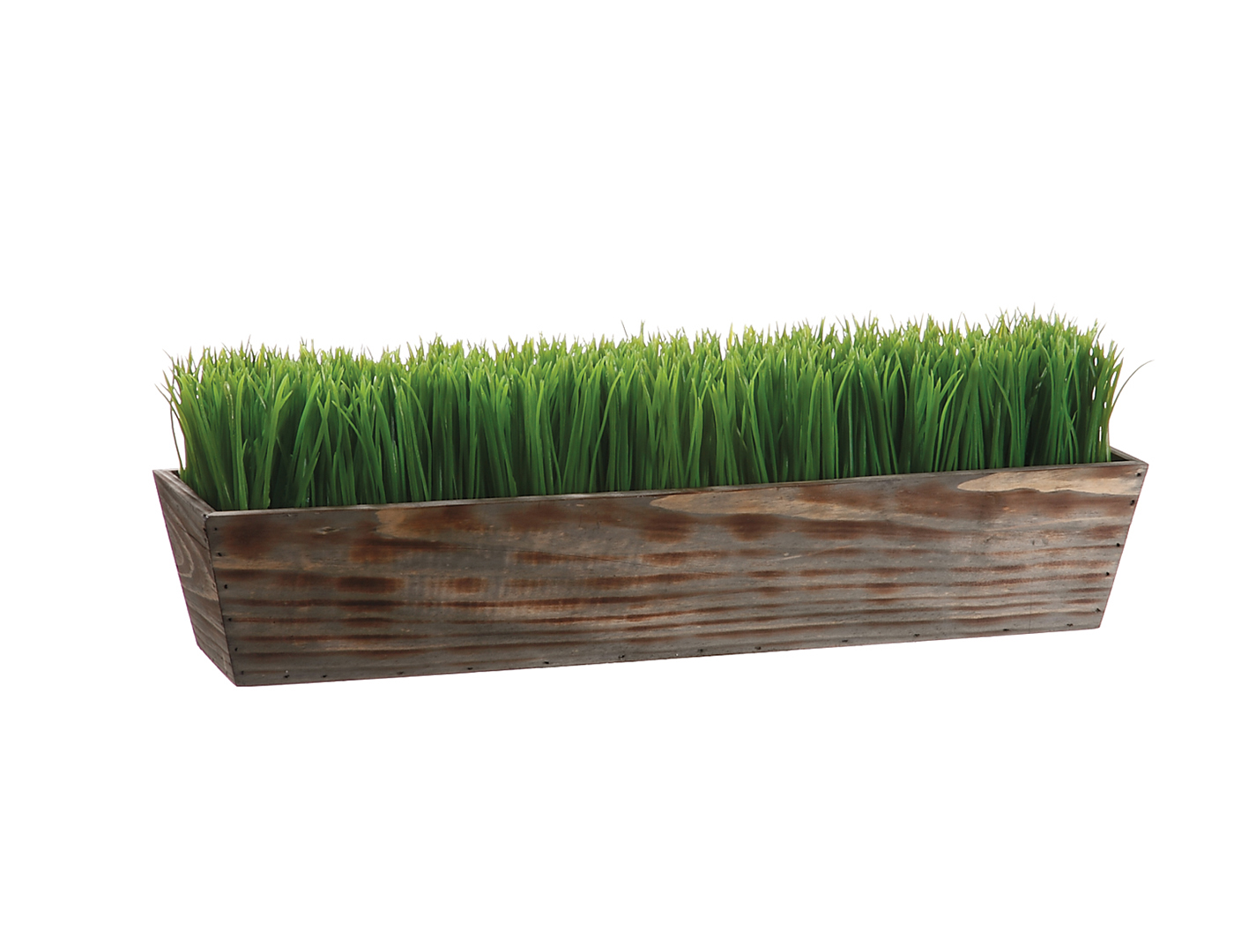 "Grass in Wood Planter 8""X6""X24""L"
