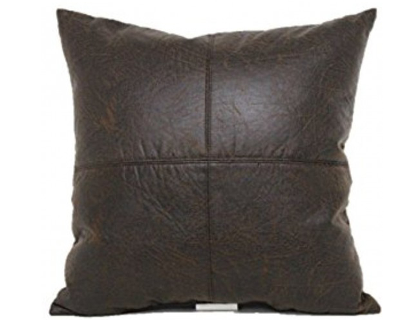 Bomber Brown Panel Pillow 18""