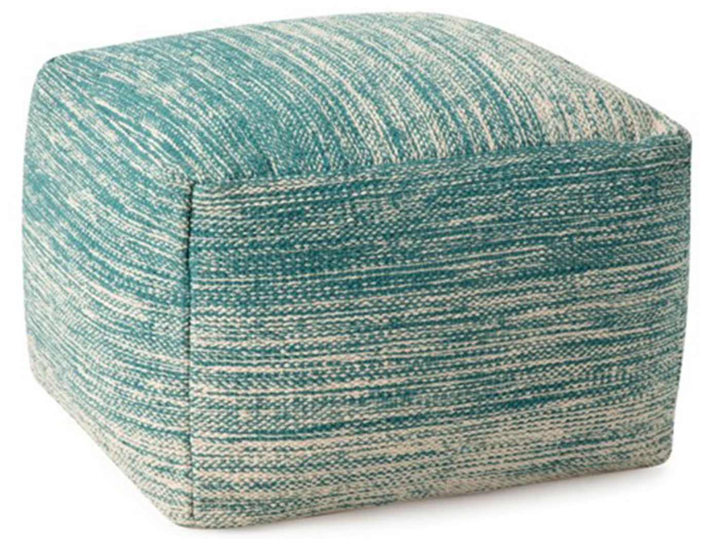 "Teal Handwoven Pouf 24""W x 18""H"