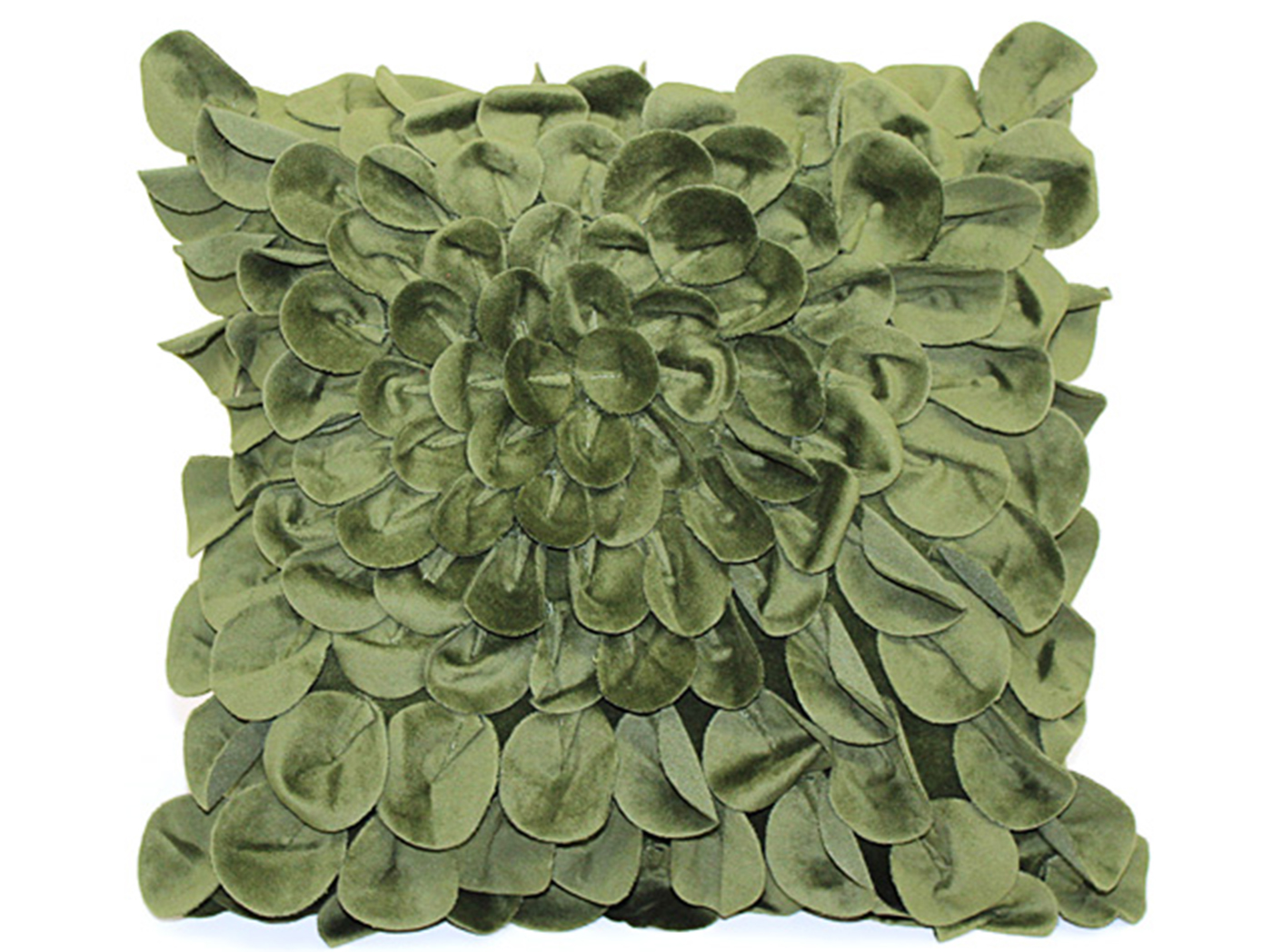 Veridian Green Starburst Pillow 16""