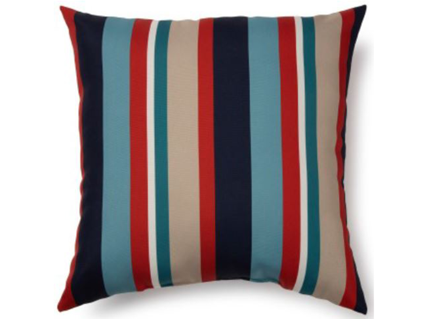"Lake Stripe Outdoor Pillow 17""W x 17""H"