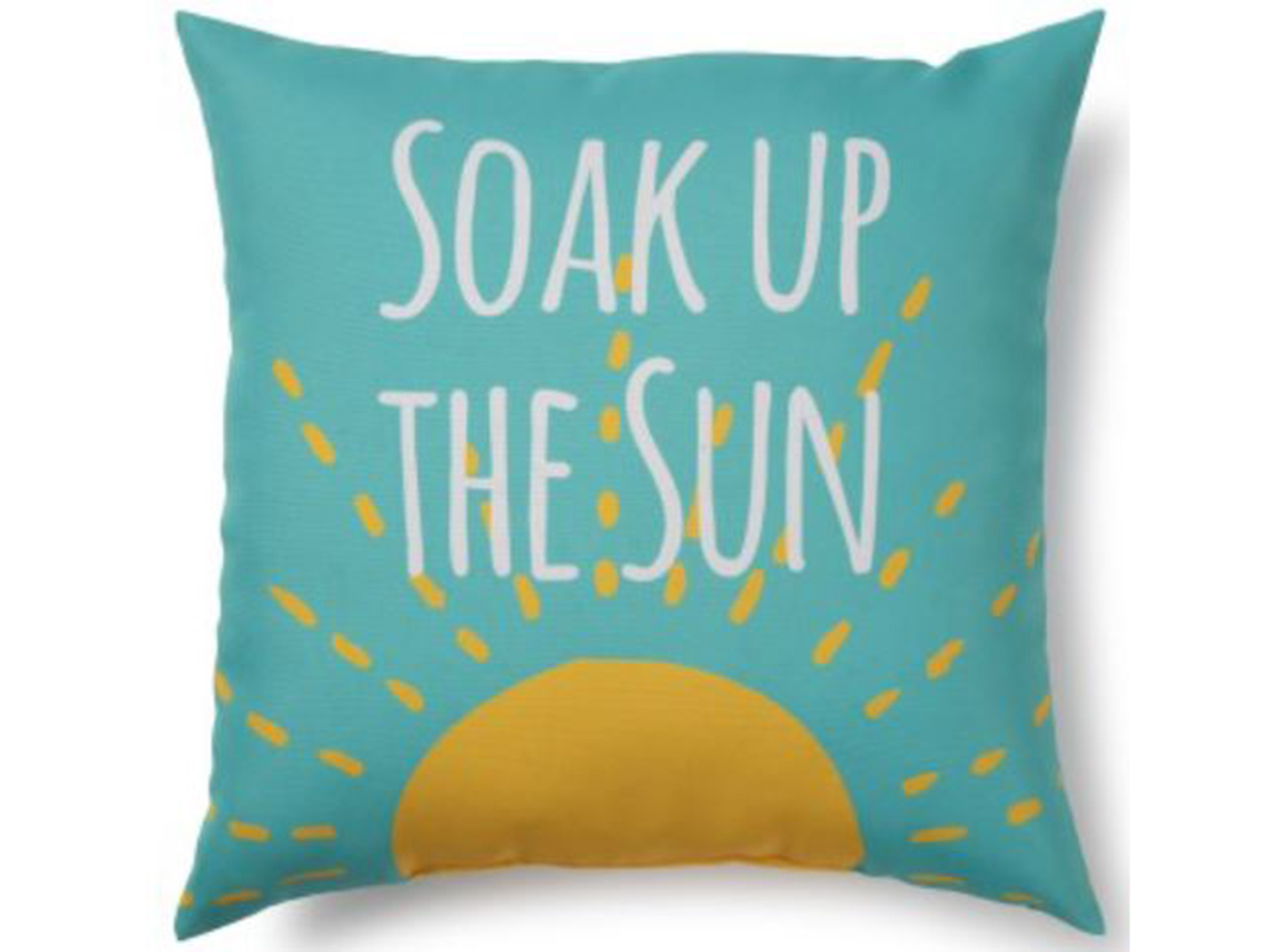 "Sun Outdoor Pillow 17""W x 17""H"