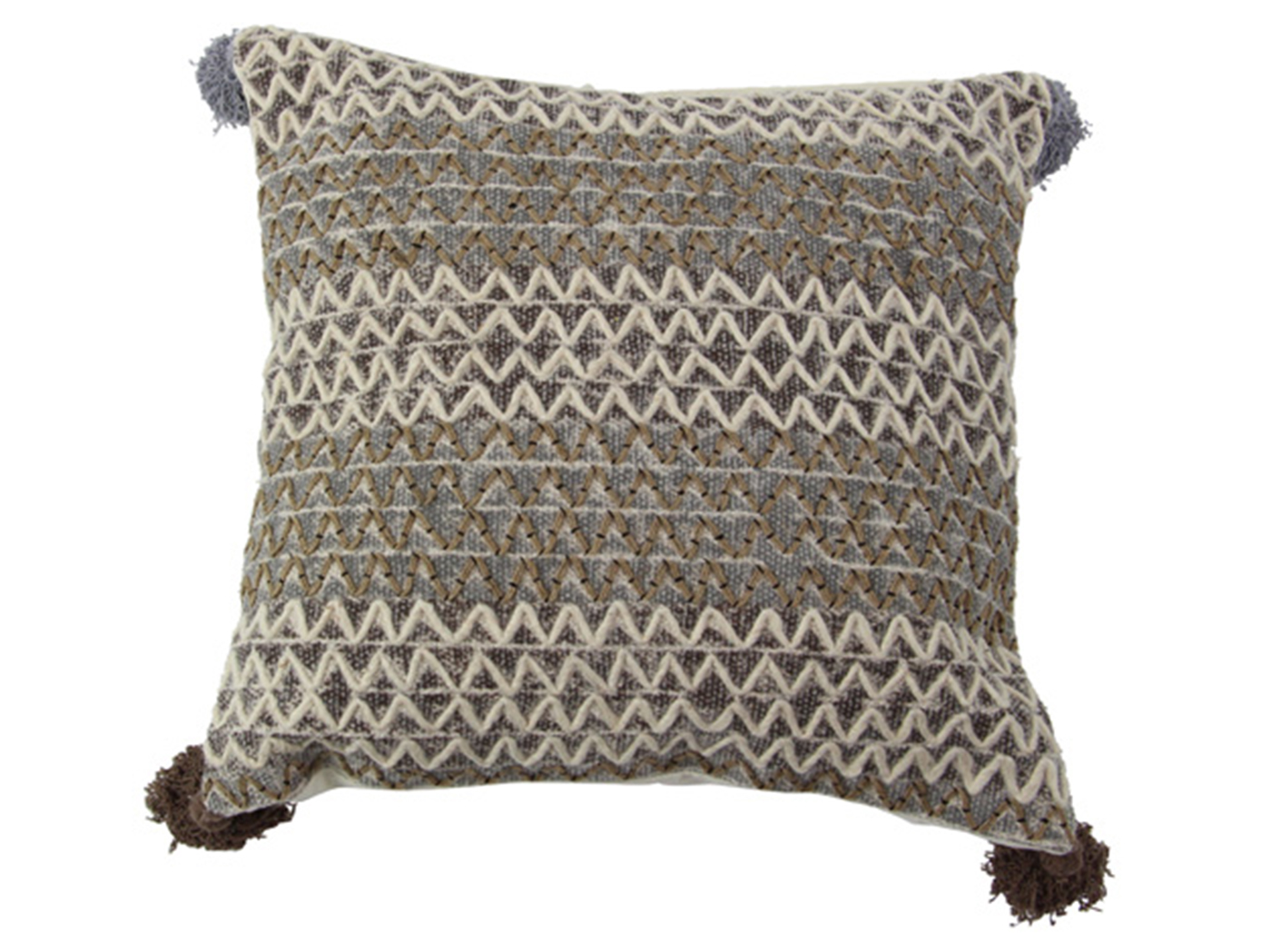 Natural Zigzag Pillow 19""