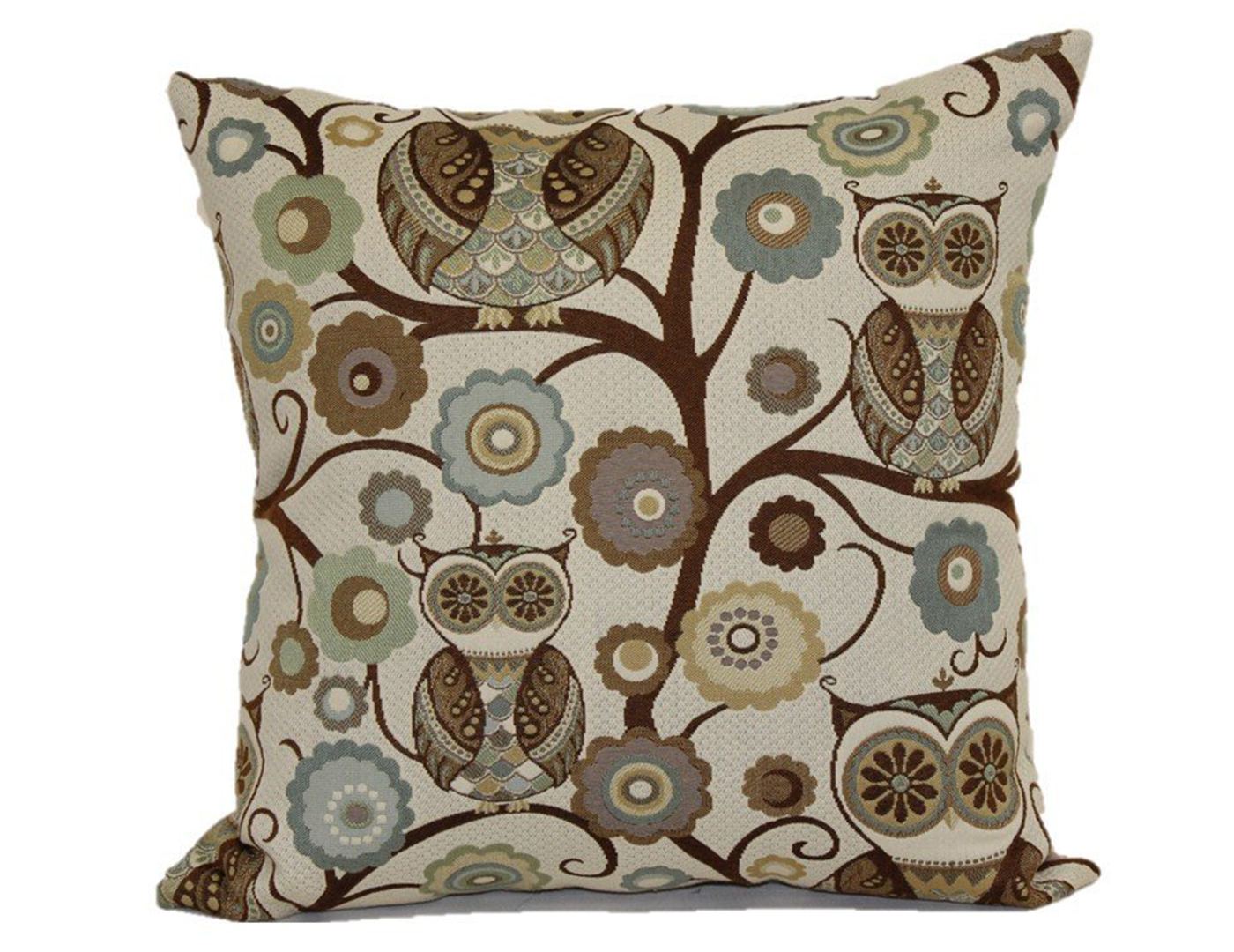 Atlantis Wide Owl Pillow 18""